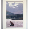 Photograph of a husband's yacht sailing past Skye