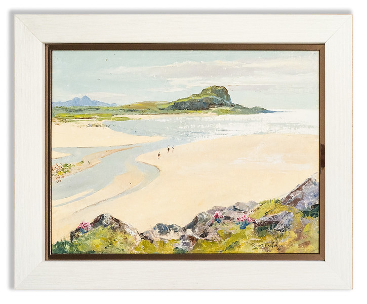 Oil painting by of Scottish West Highlands beach scene by Kenneth Robertson