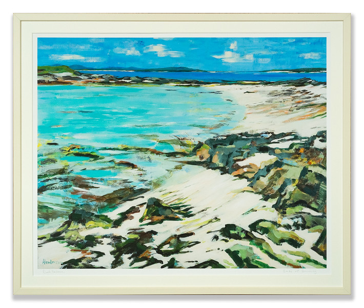 Sands of Berneray, print by David Henderson