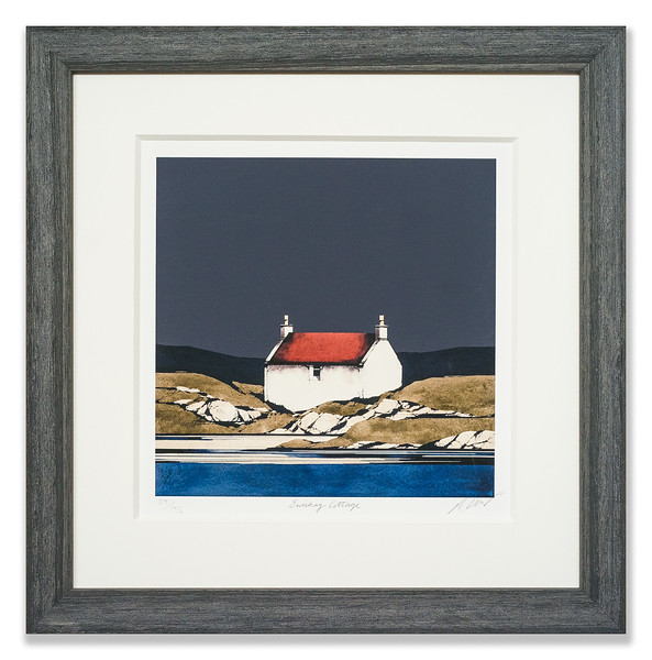 Limited Edition Print by Ron Lawson, Eriskay Cottage