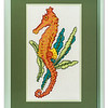Cross-stitch of a Sea Horse by Stuart Beattie