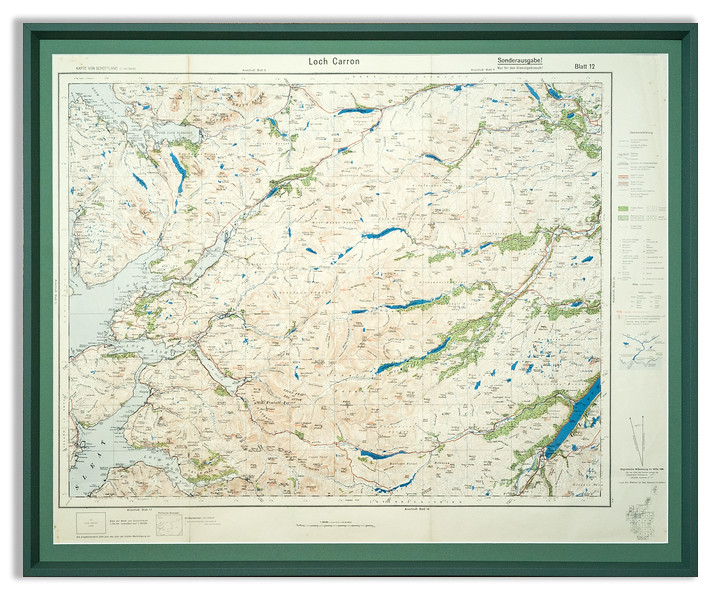 Pre-war Nazi map of the Loch Carron area of Scotland.
