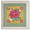 Bespoke needlework design by Stuart Beattie, Rose.