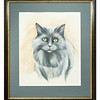 Original watercolour of a cat by Mandie Messer
