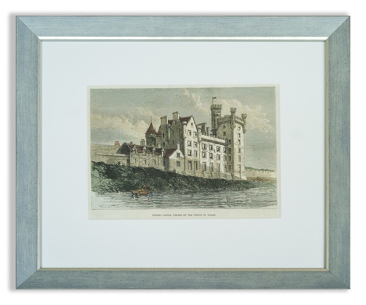 Antique print of Thurso Castle by an unknown artist, published 1876 in the Illustrated London News