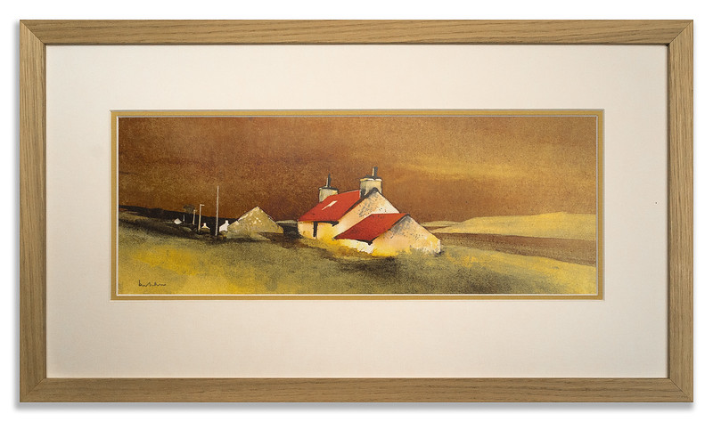 Limited edition print Mrs MacLeans Croft by Ian Nelson