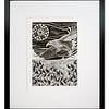 White Tailed Sea Eagle Fishing, Original pen & ink artwork by Cathy MacLeod, The Sea