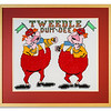 Cross-stitch Tweedle Dum & Dee by Stuart Beattie