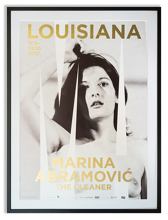 """Rare poster for the Marina Abramovic exhibition titled """"The Cleaner"""" which was held at the Louisiana Museum of Modern Art in 2017."""