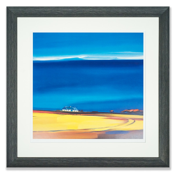 Lithograph by Scottish landscape artist, Pam Carter, entitled Big Blue