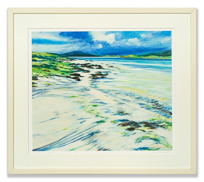 Luskentyre Light, print by David Henderson