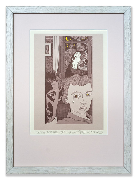Limited edition print The White Dog by Alasdair J Gray