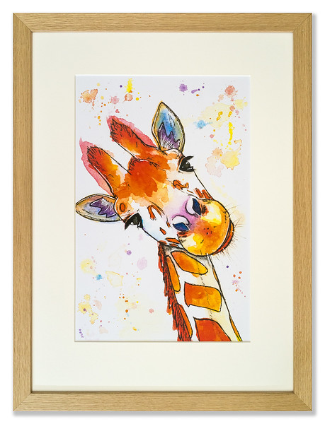 Print of giraffe by Natalie Croft