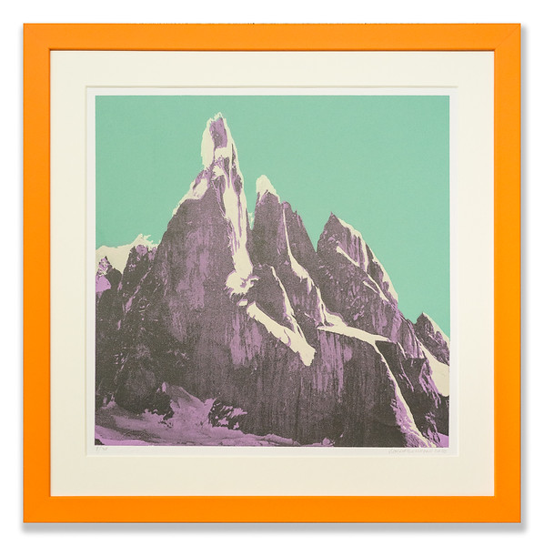 Screen print 'Purple Mountains' by Victoria Benvegnú
