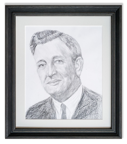 Original pencil portrait.