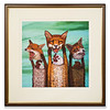 Limited edition print 'Foxes' by Michael Forbes