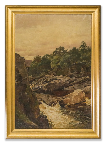 Original Oil Painting, artist unknown, assumed 19th Century