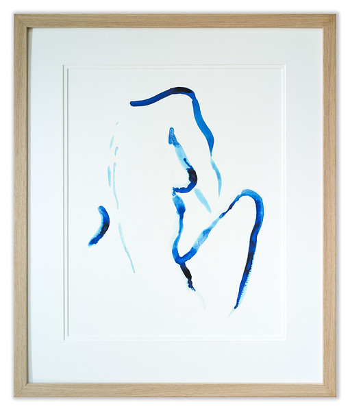 Blue Woman III by Laxmi Hussain