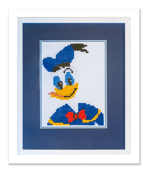 Donald Duck needlework by Stuart Beattie