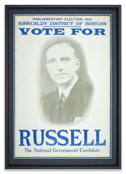 Election Poster 1931 for Albert Russell