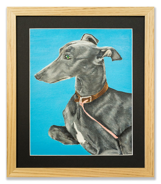 Original oil painting of a dog.
