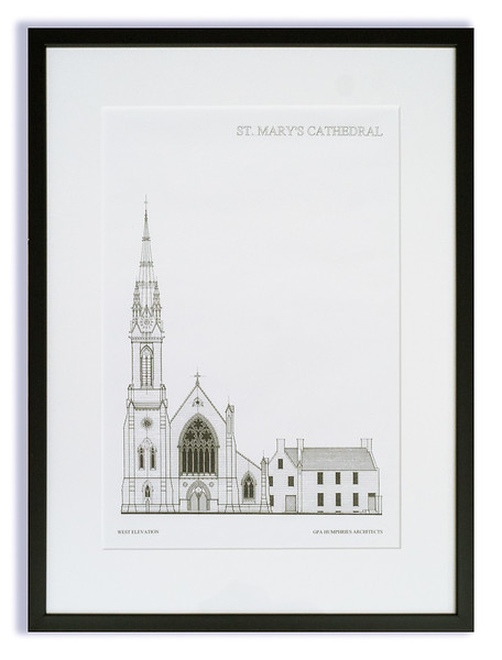Architects Drawing of St Mary's Cathedral.