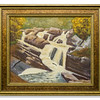 Oil painting Falls of Rogie by Robert Forsyth