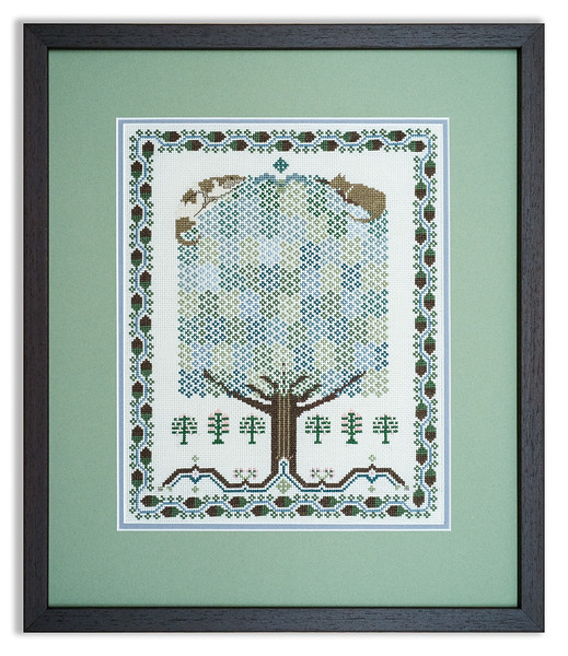 Bespoke cross-stitch design by an accomplished needleworker.