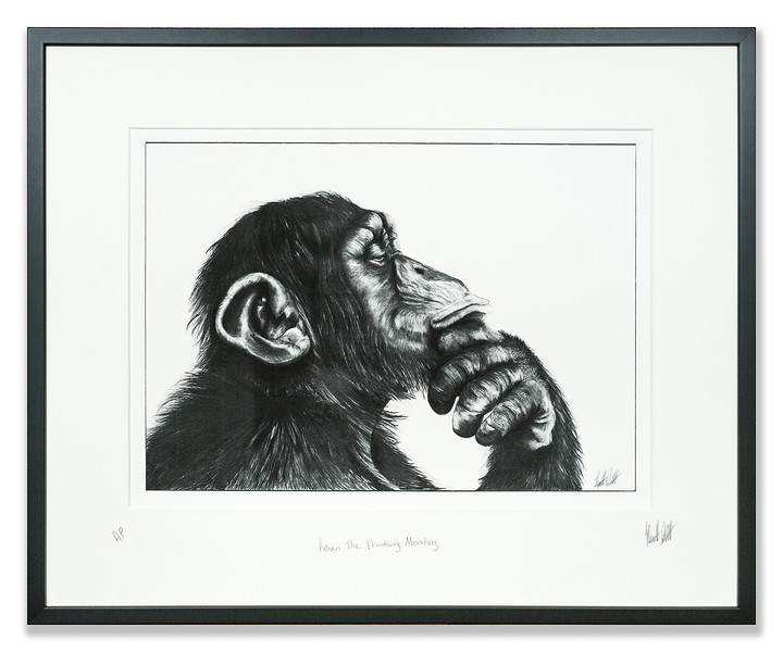 Print of Kevin the Thinking Monkey created by Stuart Duff
