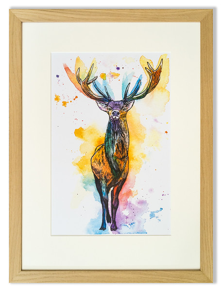 Print of stag by Natalie Croft