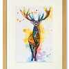 Print of stag by Natalie Croft Art