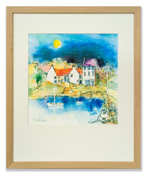 Limited edition print of Crail Harbour by Kanita Sim