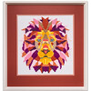 Bespoke needlework design by Stuart Beattie, Lion.
