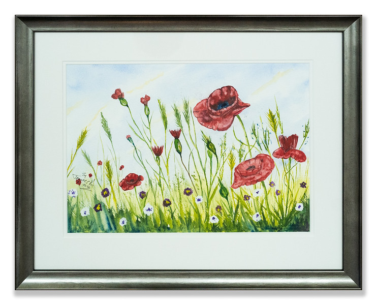 Original watercolour of flowers