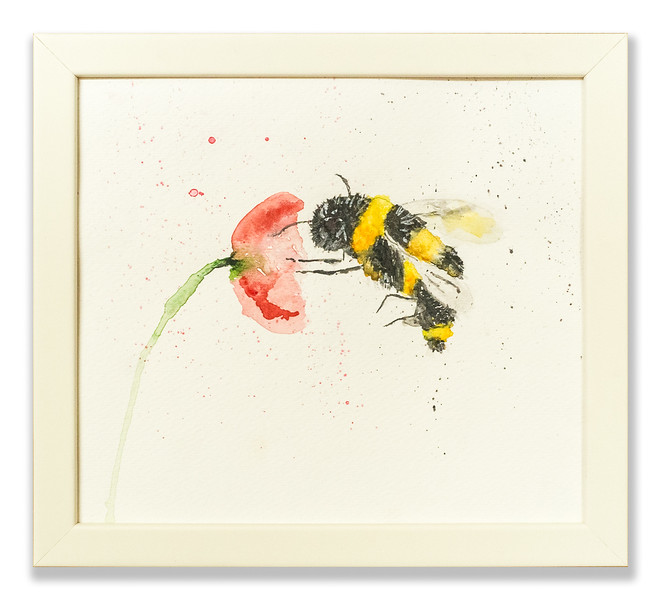 Watercolour of a Bee