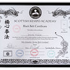 Third Degree Black Belt Cerificate