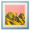 Screen print 'Yellow Mountains' by Victoria Benvegnú