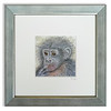 Print of Chimpanzee by Valerie Harrison