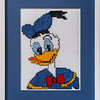 Bespoke needlework design by Stuart Beattie, Donald Duck.
