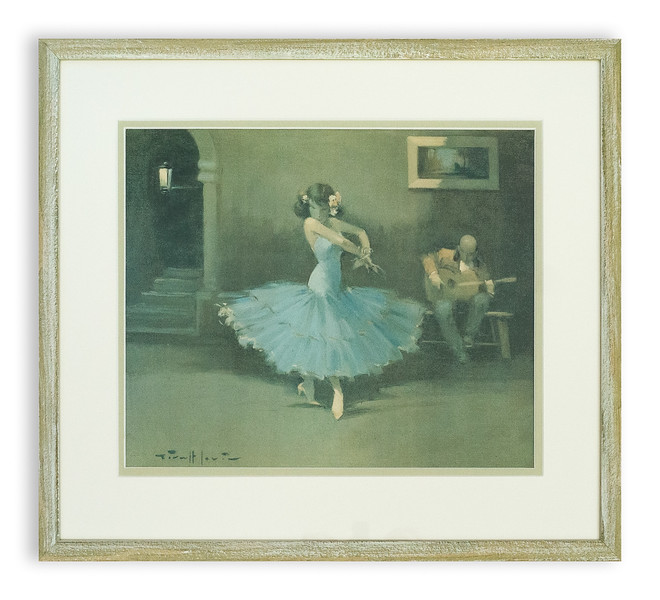 Print of Flamenco Dancer by J G Lerin