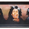 Canvas of Bob Marley