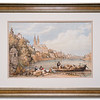 Print of Basle, Switzerland, by an unknown artist.