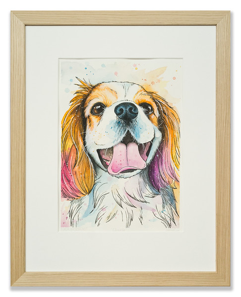 Original watercolour of Charlie by Natalie Crof Art