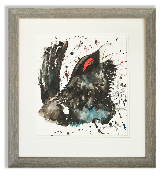 Watercolour of Capercaillie by Scottish Artist Mike Ross