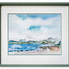 Print of an original watercolour work (2006) by Ken Lochhead of Gruinard Bay