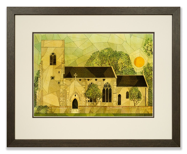 Print of St. Botolph's church by Kate Baylay