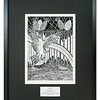 Limited edition pen and ink print Osprey Fishing by Cathy Macleod