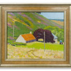 Oil painting of a Scene at Knockfarrel, Ross-shire by Robert Forsyth