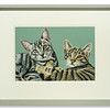 Original Pastel of two cats by Cara Bell