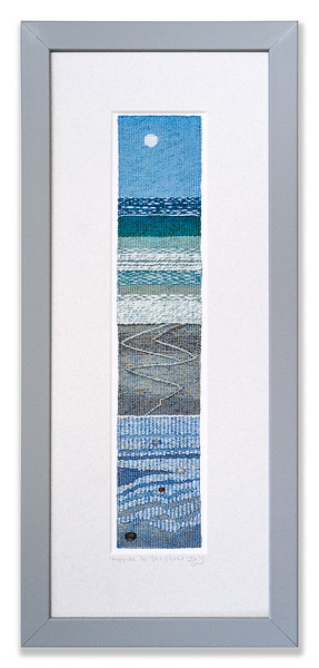 Pre-mounted print, Ripple to the Shore, by textile artist Leila Thomson